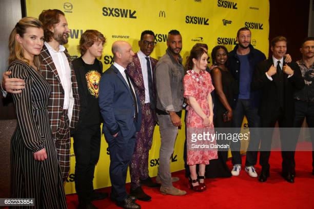 Actor Betty Gilpin filmmaker Bryan Fuller actor Bruce Langley filmmaker Michael Green actors Orlando Jones Ricky Whittle Emily Browning Yetide Badaki...