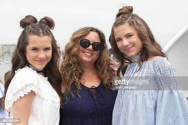 Actor Bianca D'Ambrosio Lisa D'Ambrosio and actor Chiara D'Ambrosio attend the DoctorFrankcom Memorial Day Yacht Cruise on May 29 2017 in Marina del...