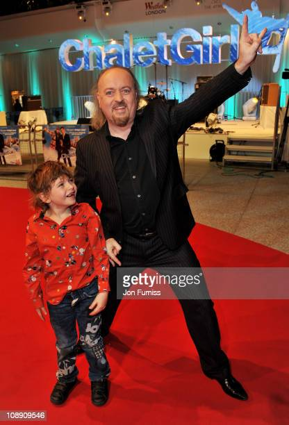 Actor Bill Bailey and son Dax Bailey attend the world premier of 'Chalet Girl' at Vue Westfield on February 8 2011 in London England