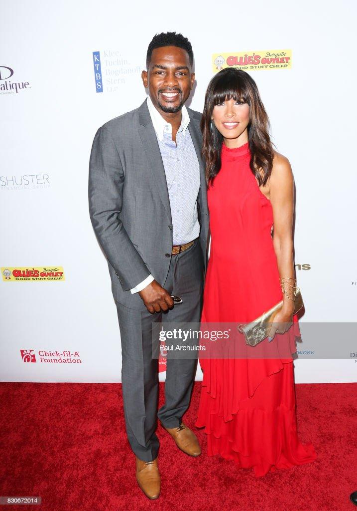 Actor Bill Bellamy (L) and his Wife Kristen Baker Bellamy (R) attend the 17th Annual Harold & Carole Pump Foundation Gala at The Beverly Hilton Hotel on August 11, 2017 in Beverly Hills, California.
