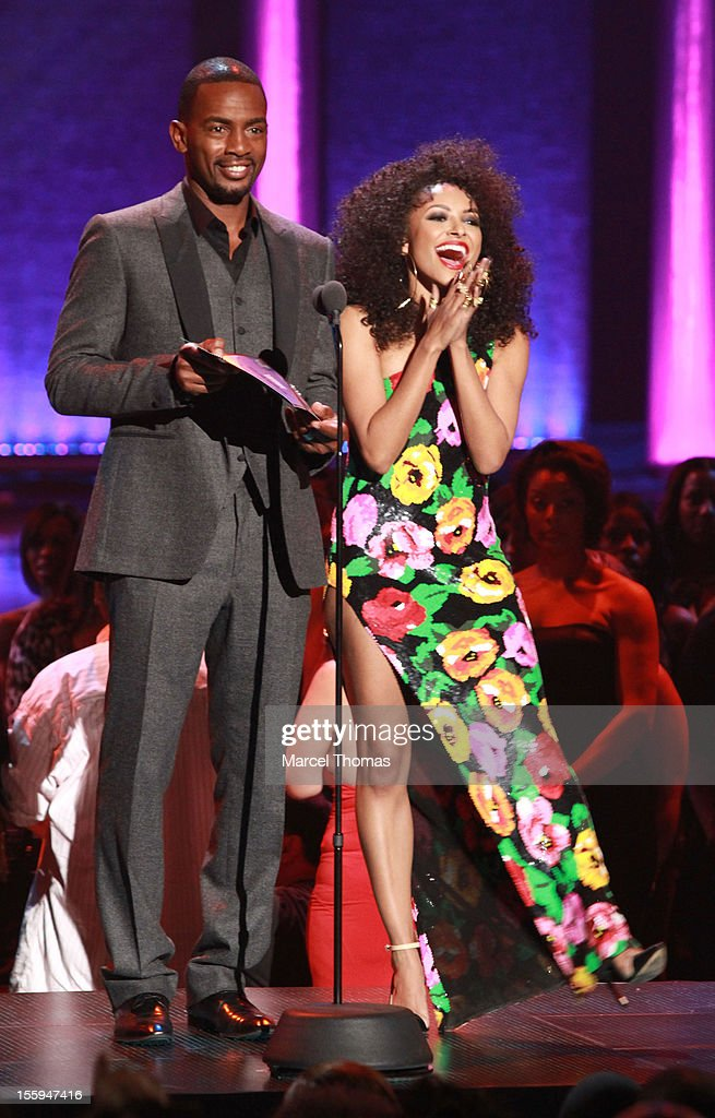 Actor <a gi-track='captionPersonalityLinkClicked' href=/galleries/search?phrase=Bill+Bellamy&family=editorial&specificpeople=241222 ng-click='$event.stopPropagation()'>Bill Bellamy</a> and Kat Graham attend the Soul Train Awards 2012 at PH Live at Planet Hollywood Resort and Casino on November 8, 2012 in Las Vegas, Nevada.