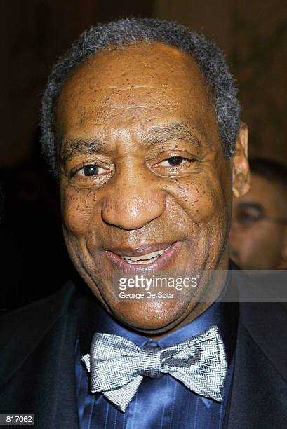 Actor Bill Cosby acts as the Master of Ceremonies March 12 2001 at The Jackie Robinson Foundation 2001 Awards Dinner at The Waldorf Astoria Hotel in...