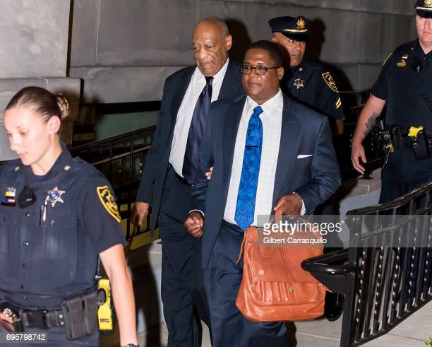 Actor Bill Cosby and Andrew Wyatt are seen leaving Montgomery County Courthouse as Bill Cosby Trial Continues After Defense Rests on June 13 2017 in...