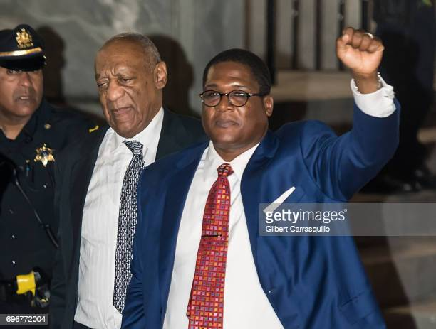 Actor Bill Cosby and Andrew Wyatt are seen leaving Montgomery County Courthouse as Bill Cosby Trial Continues After Defense Rests on June 16 2017 in...