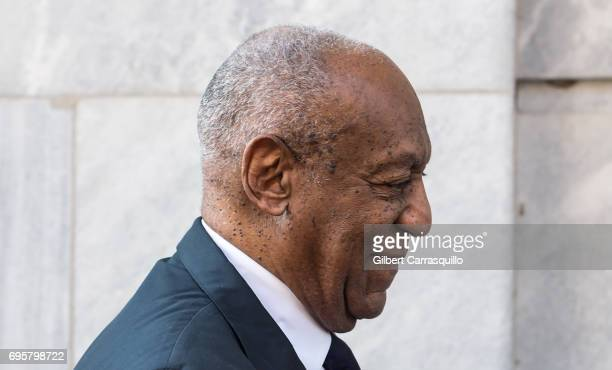 Actor Bill Cosby arrives at Montgomery County Courthouse as Bill Cosby Trial Continues After Defense Rests on June 13 2017 in Norristown Pennsylvania