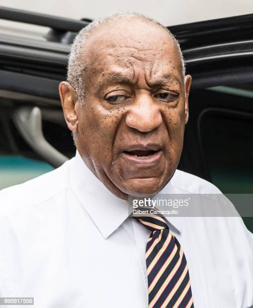 Actor Bill Cosby arrives at Montgomery County Courthouse as Bill Cosby Trial Continues After Defense Rests on June 14 2017 in Norristown Pennsylvania