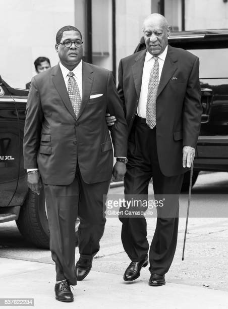 Actor Bill Cosby is seen arriving to Montgomery County Courthouse prior a pretrial hearing to discuss Cosby's new legal team on August 22 2017 in...
