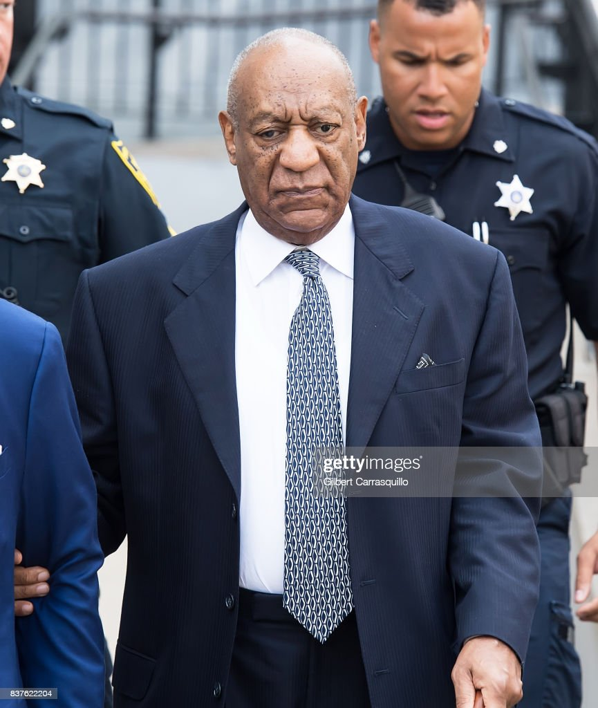 Actor Bill Cosby is seen leaving Montgomery County Courthouse after a pre-trial hearing to discuss Cosby's new legal team on August 22, 2017 in Norristown, Pennsylvania.