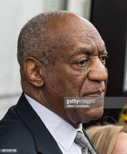 Actor Bill Cosby is seen leaving Montgomery County Courthouse after the sexual assault case was declared a mistrial for manifest necessity on June 17...