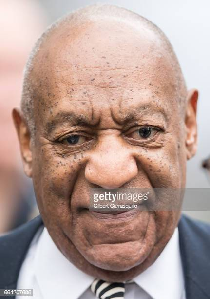 Actor Bill Cosby is seen leaving the Montgomery County Courthouse after a pretrial hearing on April 3 2017 in Norristown Pennsylvania