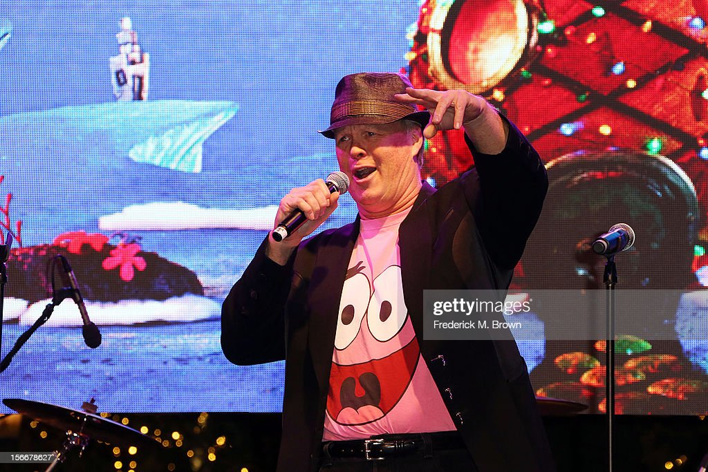 Actor Bill Fagerbakke performs during Nickelodeon's Spongebob Holiday Extravapants At The Grove on November 18, 2012 in Los Angeles, California.