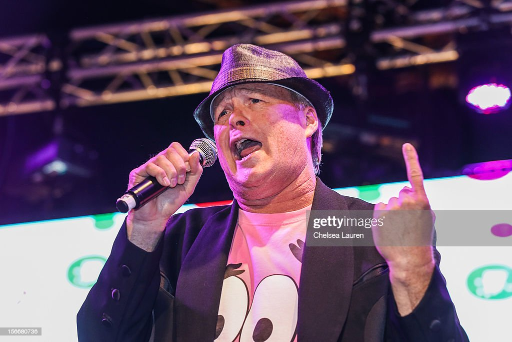 Actor Bill Fagerbakke performs in the 'Spongebob Holiday Extravapants!' stage show at The Grove on November 18, 2012 in Los Angeles, California.