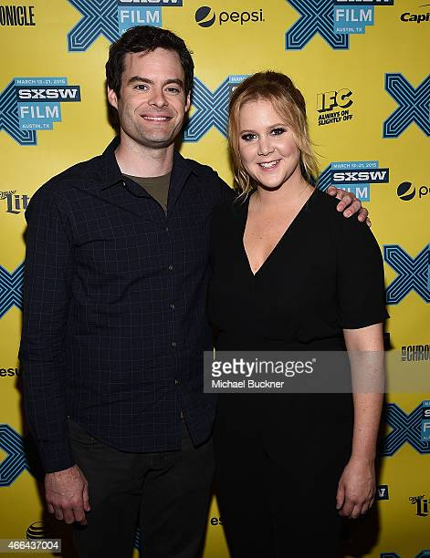 Actor Bill Hader and actress Amy Schumer arrives at the screening of 'Trainwreck' during the 2015 SXSW Music Film Interactive Festival at the...