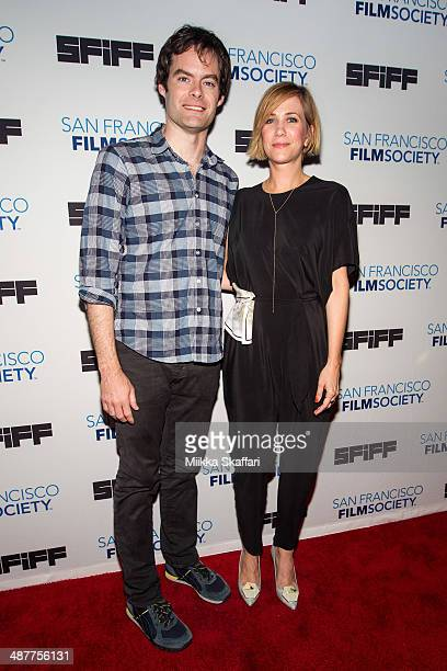 Actor Bill Hader and actress Kristin Wiig arrive at the premiere of 'The Skeleton Twins' at San Francisco International Film Festival on May 1 2014...