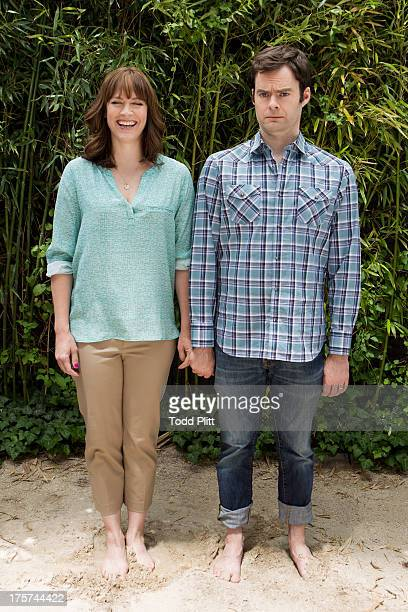 Actor Bill Hader and director/wife Maggie Carey are photographed for USA Today on June 20 2013 in New York City