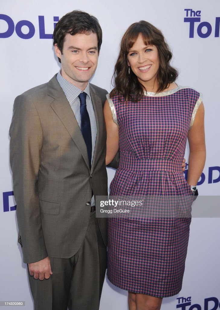 Actor <a gi-track='captionPersonalityLinkClicked' href=/galleries/search?phrase=Bill+Hader&family=editorial&specificpeople=757145 ng-click='$event.stopPropagation()'>Bill Hader</a> and director/writer Maggie Carey arrive at the Los Angeles premiere of 'The To Do List' at Regency Bruin Theatre on July 23, 2013 in Los Angeles, California.