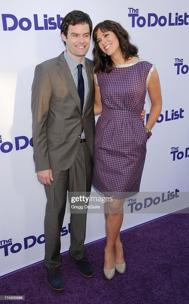 Actor Bill Hader and director/writer Maggie Carey arrive at the Los Angeles premiere of 'The To Do List' at Regency Bruin Theatre on July 23, 2013 in Los Angeles, California.