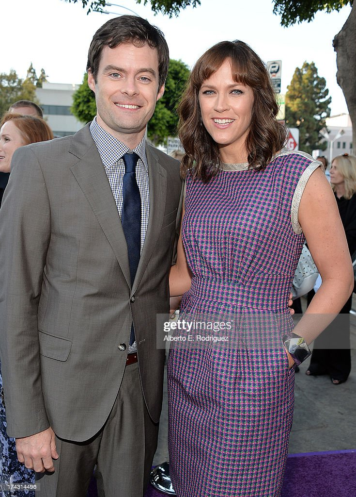 Actor Bill Hader (L) and Writer/director Maggie Carey attend the premiere of CBS Films' 'The To Do List' on July 23, 2013 in Westwood, California.