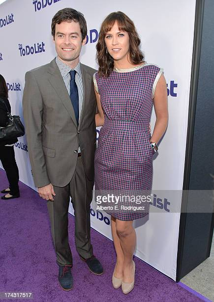 Actor Bill Hader and Writer/director Maggie Carey attend the premiere of CBS Films' 'The To Do List' on July 23 2013 in Westwood California