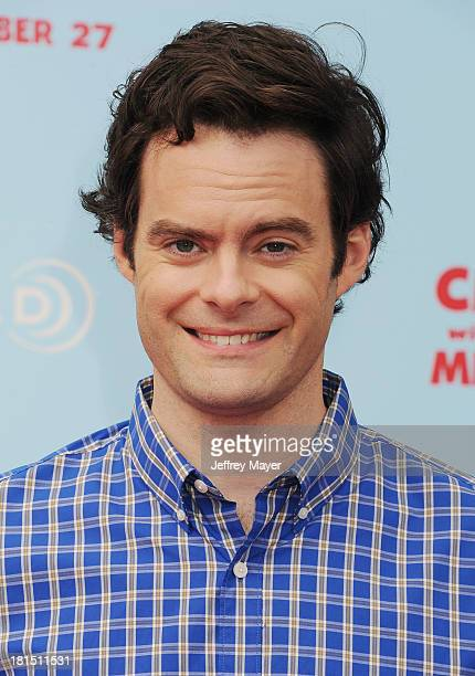 Actor Bill Hader arrives at the Los Angeles premiere of 'Cloudy With A Chance Of Meatballs 2' at the Regency Village Theatre on September 21 2013 in...