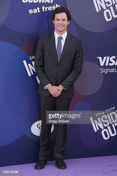 Actor Bill Hader arrives at the Los Angeles premiere of Disney/Pixar's 'Inside Out' at the El Capitan Theatre on June 8 2015 in Hollywood California