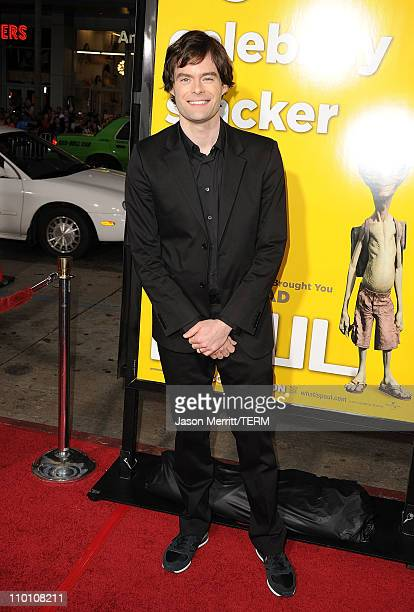 Actor Bill Hader arrives at the premiere of Universal Pictures' 'Paul' held at Grauman's Chinese Theater on March 14 2011 in Hollywood California