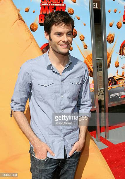 Actor Bill Hader arrives on the red carpet at the Los Angeles premiere of 'Cloudy With A Chance Of Meatballs' at the Mann Village Theatre on...