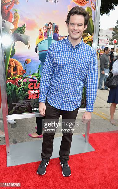 Actor Bill Hader arrives to the premiere of Columbia Pictures and Sony Pictures Animation's 'Cloudy With A Chance of Meatballs 2' at the Regency...