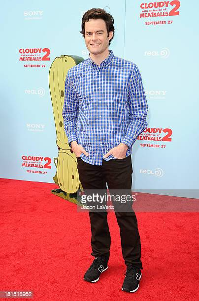 Actor Bill Hader attends the premiere of 'Cloudy With a Chance of Meatballs 2' at Regency Village Theatre on September 21 2013 in Westwood California
