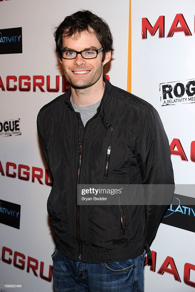Actor Bill Hader attends the premiere of 'MacGruber' at Landmark's Sunshine Cinema on May 19, 2010 in New York City.
