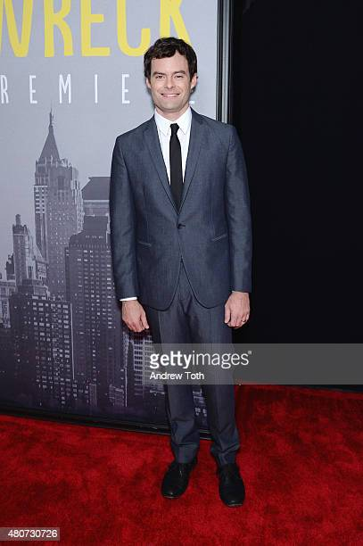 Actor Bill Hader attends the 'Trainwreck' premiere at Alice Tully Hall on July 14 2015 in New York City