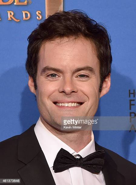 Actor Bill Hader poses in the press room during the 72nd Annual Golden Globe Awards at The Beverly Hilton Hotel on January 11 2015 in Beverly Hills...