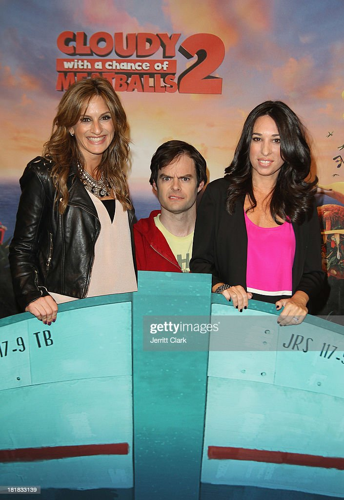 Actor <a gi-track='captionPersonalityLinkClicked' href=/galleries/search?phrase=Bill+Hader&family=editorial&specificpeople=757145 ng-click='$event.stopPropagation()'>Bill Hader</a> poses with Denise Albert and Melissa Musen Gerstein of The MOMS at The Mom's Screening Of 'Cloudy With A Chance Of Meatballs 2' at AMC Lincoln Square Theater on September 25, 2013 in New York City.