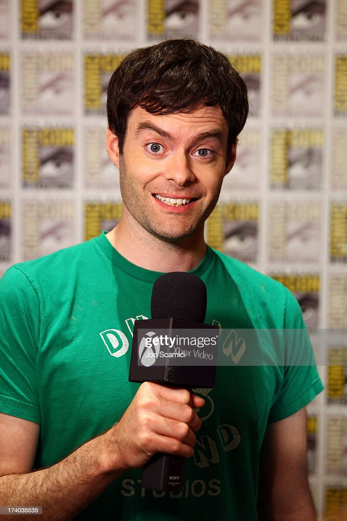 Actor <a gi-track='captionPersonalityLinkClicked' href=/galleries/search?phrase=Bill+Hader&family=editorial&specificpeople=757145 ng-click='$event.stopPropagation()'>Bill Hader</a> speaks with Xbox Video at Comic-Con 2013 on July 19, 2013 in San Diego, California.