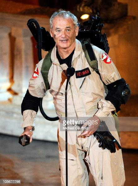Actor Bill Murray accepts the Best Horror Movie award onstage during Spike TV's 'Scream 2010' at The Greek Theatre on October 16 2010 in Los Angeles...