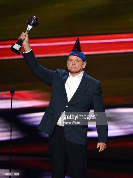 Actor Bill Murray accepts the Best Moment award on behalf of the 2016 World Series champion Chicago Cubs onstage at The 2017 ESPYS at Microsoft...