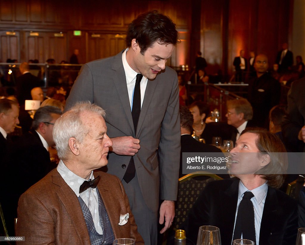 Actor Bill Murray actor Bill Hader and director Wes Anderson attend the 67th Annual Directors Guild Of America Awards at the Hyatt Regency Century...