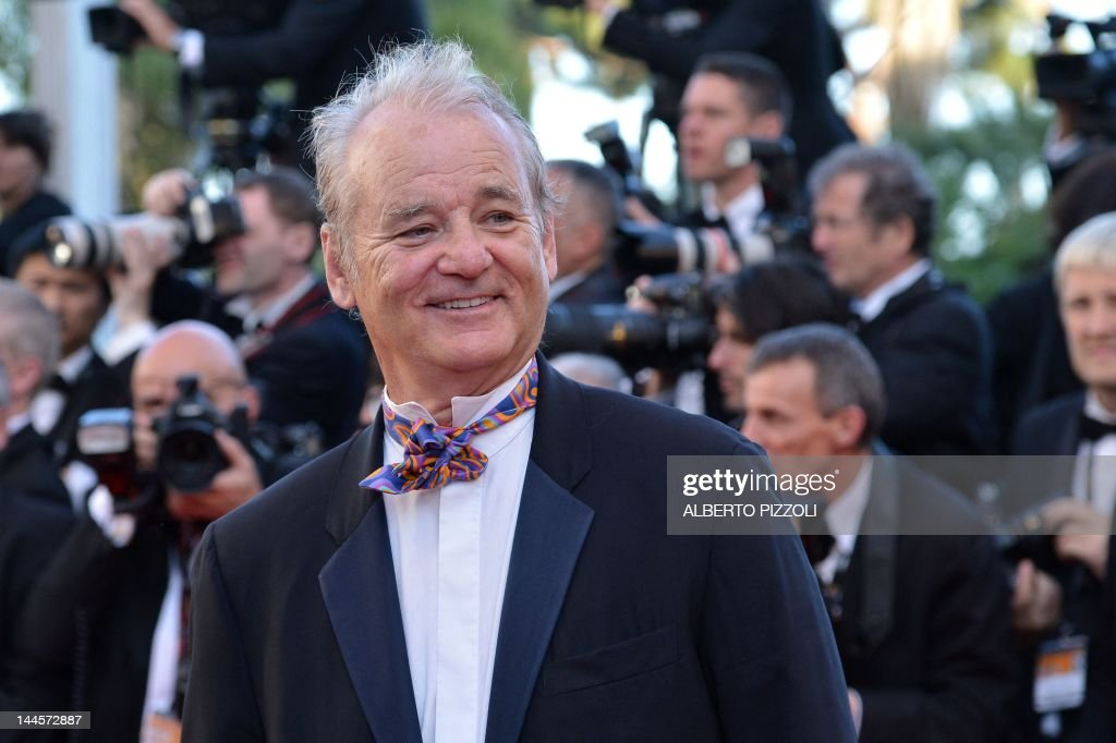 US actor Bill Murray arrives for the screening of 'Moonrise Kingdom' and the opening ceremony of the 65th Cannes film festival on May 16, 2012 in Cannes. AFP PHOTO / ALBERTO PIZZOLI