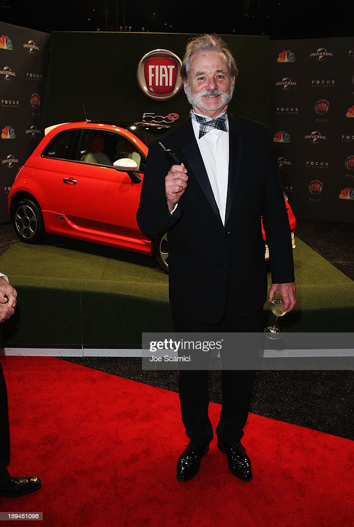 Actor <a gi-track='captionPersonalityLinkClicked' href=/galleries/search?phrase=Bill+Murray&family=editorial&specificpeople=171116 ng-click='$event.stopPropagation()'>Bill Murray</a> attends Fiat's Into The Green at the 70th Annual Golden Globe Awards held at The Beverly Hilton Hotel on January 13, 2013 in Beverly Hills, California.