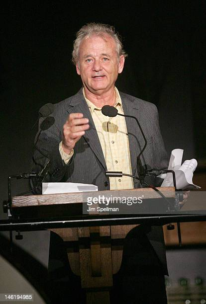 Actor Bill Murray attends the 17th annual Poets House Poetry Walk Across The Brooklyn Bridge on June 11 2012 in New York City