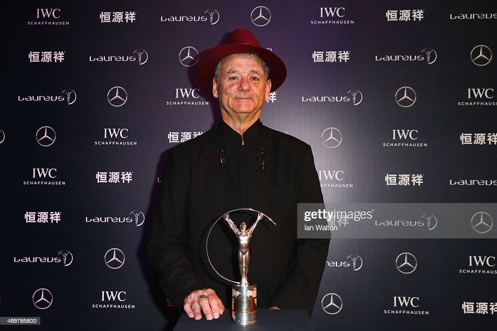 Actor <a gi-track='captionPersonalityLinkClicked' href=/galleries/search?phrase=Bill+Murray&family=editorial&specificpeople=171116 ng-click='$event.stopPropagation()'>Bill Murray</a> attends the 2015 Laureus World Sports Awards at Shanghai Grand Theatre on April 15, 2015 in Shanghai, China.