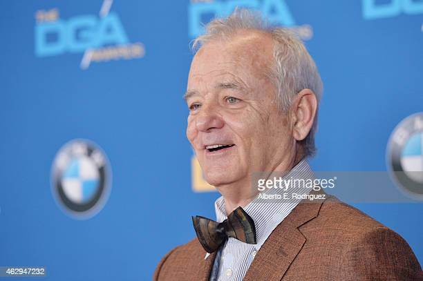 Actor Bill Murray attends the 67th Annual Directors Guild Of America Awards at the Hyatt Regency Century Plaza on February 7 2015 in Century City...