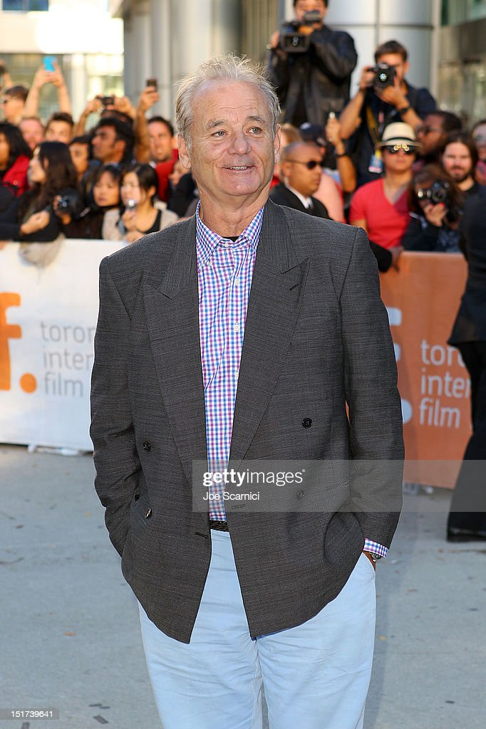 Actor <a gi-track='captionPersonalityLinkClicked' href=/galleries/search?phrase=Bill+Murray&family=editorial&specificpeople=171116 ng-click='$event.stopPropagation()'>Bill Murray</a> attends the 'Hyde Park On Hudson' premiere during the 2012 Toronto International Film Festival at Roy Thomson Hall on September 10, 2012 in Toronto, Canada.