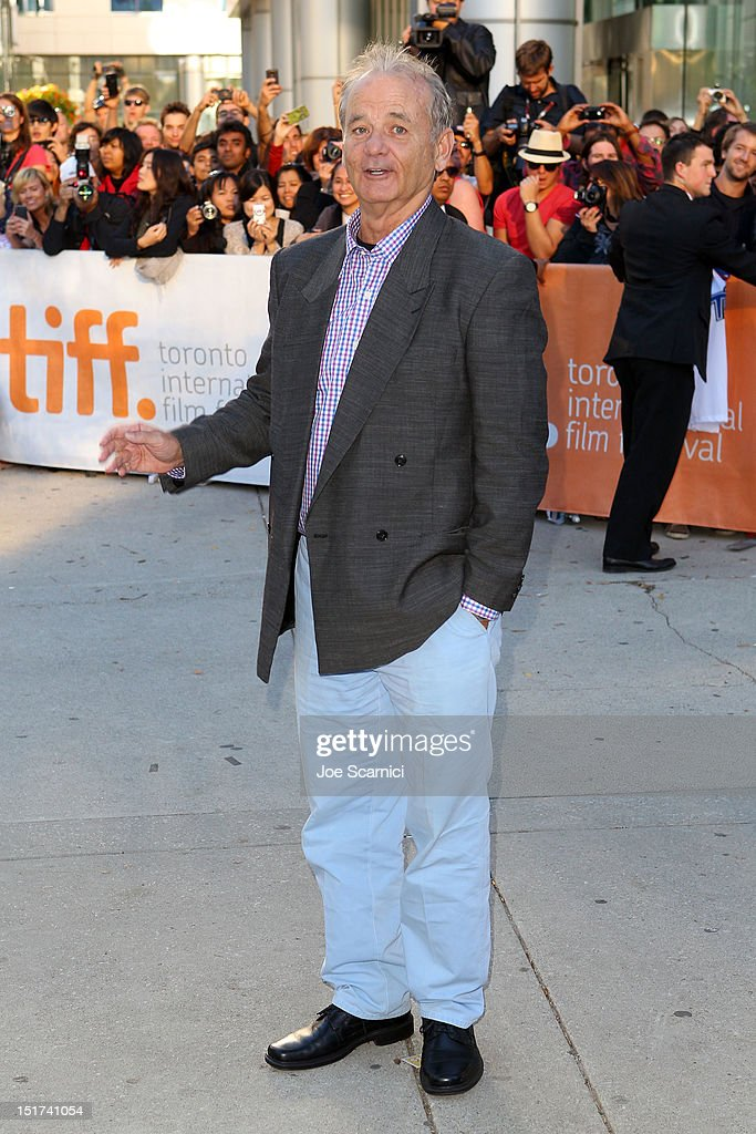 Actor Bill Murray attends the 'Hyde Park On Hudson' premiere during the 2012 Toronto International Film Festival at Roy Thomson Hall on September 10, 2012 in Toronto, Canada.