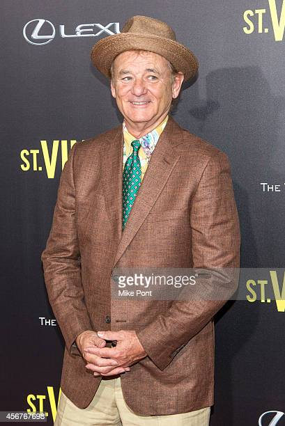 Actor Bill Murray attends the New York Premiere of 'St Vincent' at the Ziegfeld Theater on October 6 2014 in New York City