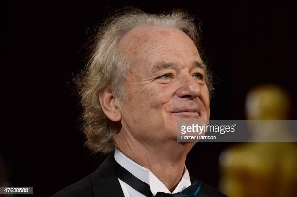 Actor Bill Murray attends the Oscars held at Hollywood Highland Center on March 2 2014 in Hollywood California