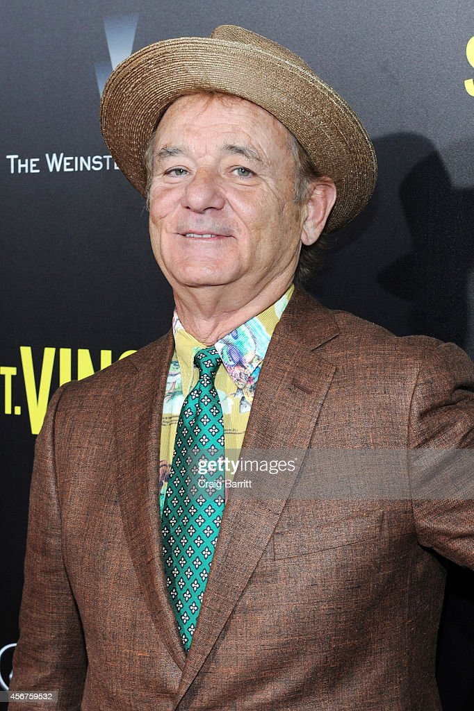 Actor <a gi-track='captionPersonalityLinkClicked' href=/galleries/search?phrase=Bill+Murray&family=editorial&specificpeople=171116 ng-click='$event.stopPropagation()'>Bill Murray</a> attends the premiere of ST. VINCENT, hosted by the Weinstein Company with Lexus on October 6, 2014 in New York City.
