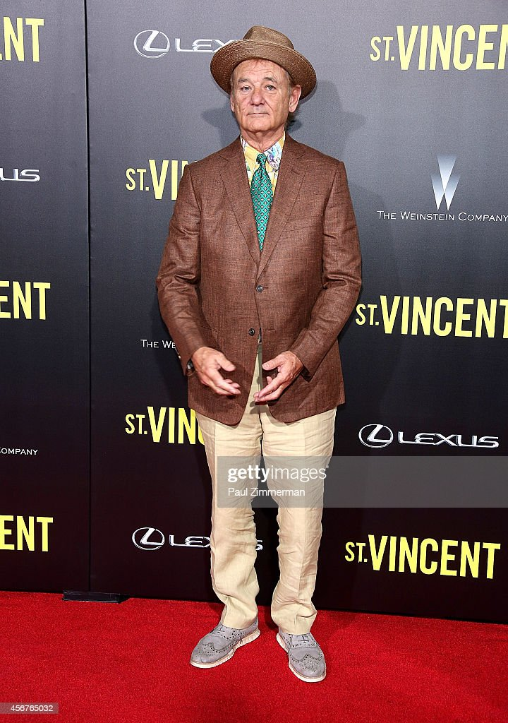 Actor <a gi-track='captionPersonalityLinkClicked' href=/galleries/search?phrase=Bill+Murray&family=editorial&specificpeople=171116 ng-click='$event.stopPropagation()'>Bill Murray</a> attends the premiere of ST. VINCENT, hosted by the Weinstein Company with Lexus at Ziegfeld Theater on October 6, 2014 in New York City.