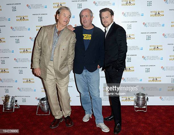 Actor Bill Murray director Roger Michell and actor Samuel West attend the ''Hyde Park on Hudson' premiere during the 56th BFI London Film Festival at...