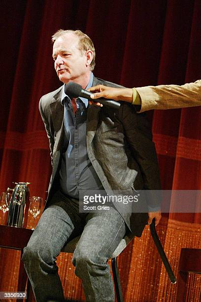 Actor Bill Murray during a talk with film critic Elvis Mitchell following the simultaneous screenings of four of Mr Murray's films Quick Change...